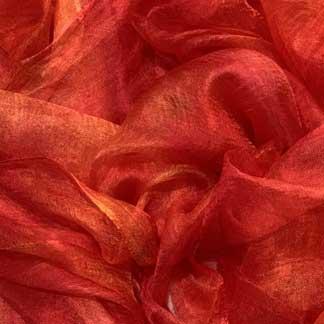 orange margilan silk