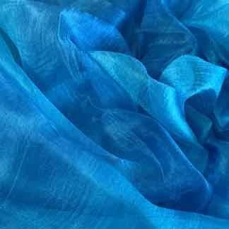blue margilan silk gauze