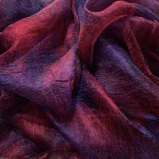 red purple margilan silk