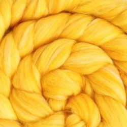 yellow wool silk roving