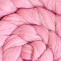 pink blend wool silk roving