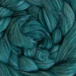 dark green wool silk roving