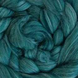 dark green wool silk roving