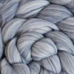 grey wool silk roving
