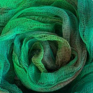 green cotton scrim