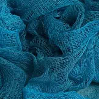 dyed cotton scrim - blue cotton gauze