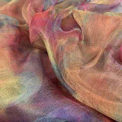hand dyed margilan silk