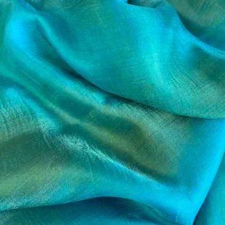 blue uzbek silk gauze