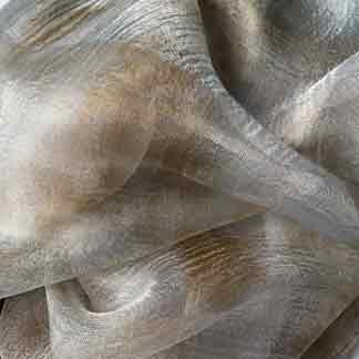 grey silk gauze