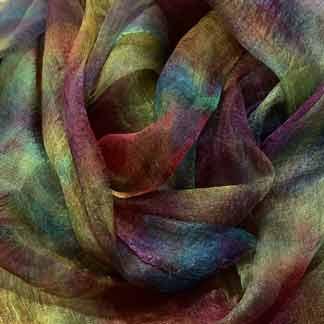 multicolour margilan silk hand dyed