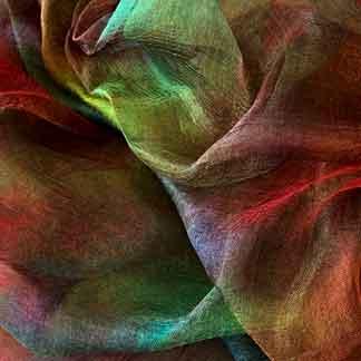 multicolour margilan silk