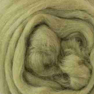 light olive green roving