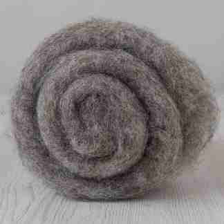 grey bergschaf carded wool