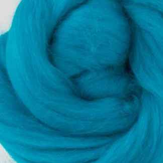turquoise wool roving