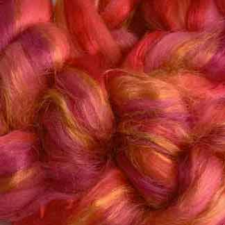 red wool viscose roving
