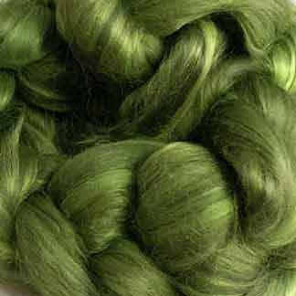 green wool viscose roving