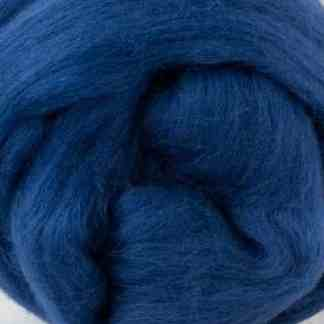 wool roving blue for spinning and felting