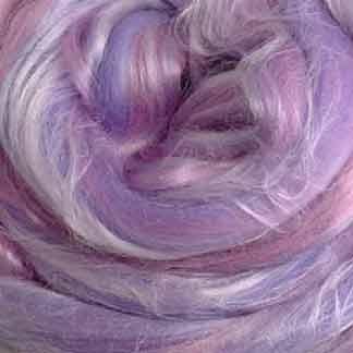 mauve pink wool viscose roving