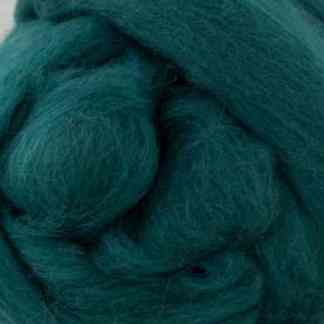 blue green wool roving
