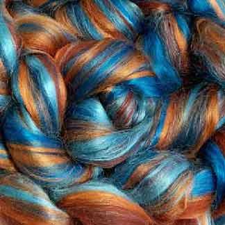 wool viscose roving blend