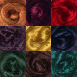 viscose roving deep colours