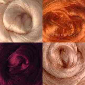 viscose roving warm shades