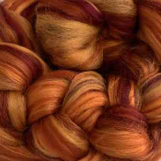 rust wool viscose roving