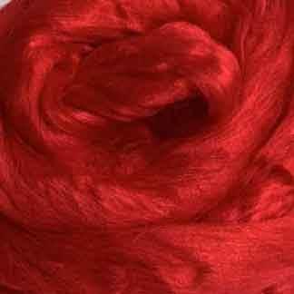 bright red viscose roving