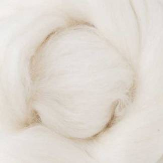 white wool roving