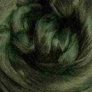 dark olive green viscose roving
