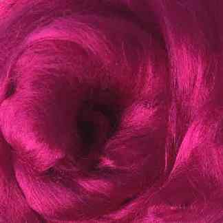 magenta viscose roving raspberry pink