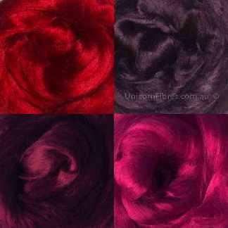 viscose roving dark red pink