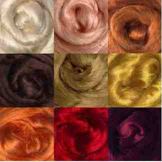 red brown viscose roving