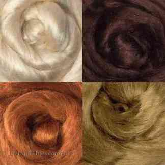 Viscose roving warm browns