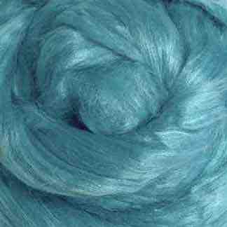 Turquoise viscose roving