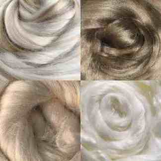 viscose roving neutrals light brown white