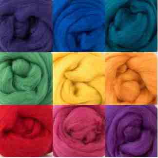 multi colour wool roving