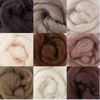 brown wool rovings