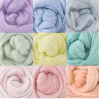 pastel wool rovings