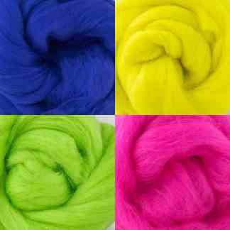 bright wool roving set