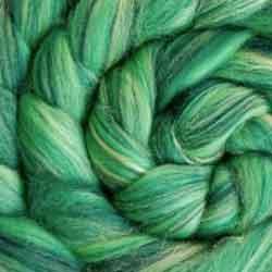green wool silk tops