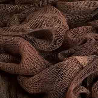 dark brown cotton scrim