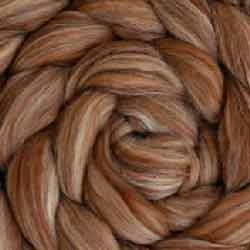 brown wool silk roving
