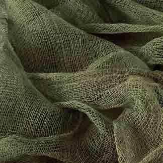 olive green cotton scrim