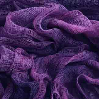 purple cotton scrim