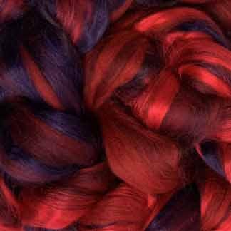 red wool viscose roving
