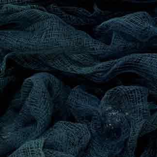 blue teal cotton scrim