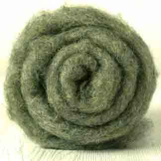 olive green wool batt bergschaf