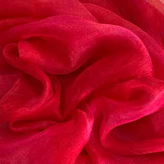 red silk gauze