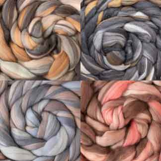 Neutral wool roving